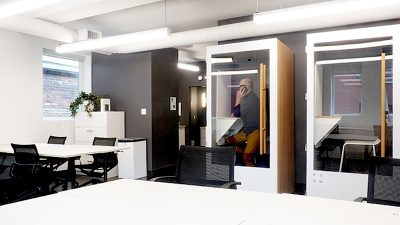 HQ Suite with office desks and flexspace