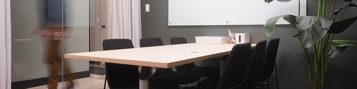 Private meeting room in an HQ suite