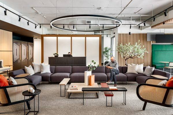 Reception Lounge at Workplace One Wellington